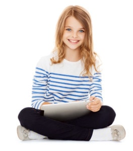 Girl on Tablet